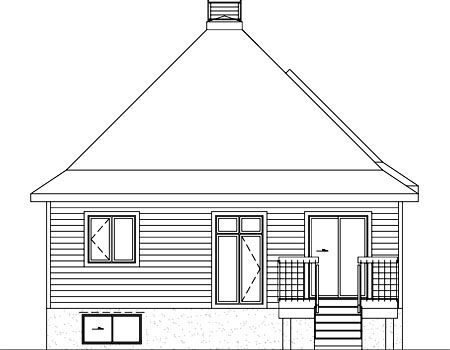 House Plan 52522 Rear Elevation