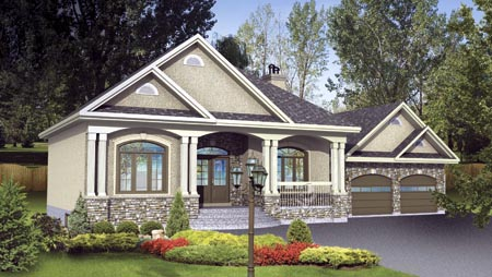 House Plan 52523 Elevation
