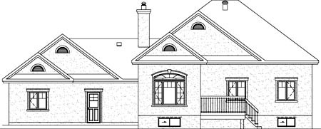 House Plan 52523 Rear Elevation