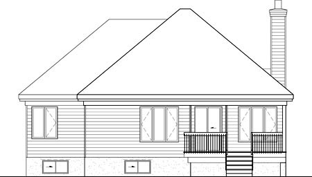House Plan 52524 Rear Elevation