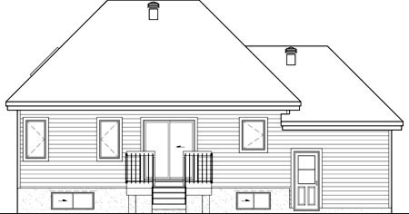 House Plan 52525 Rear Elevation