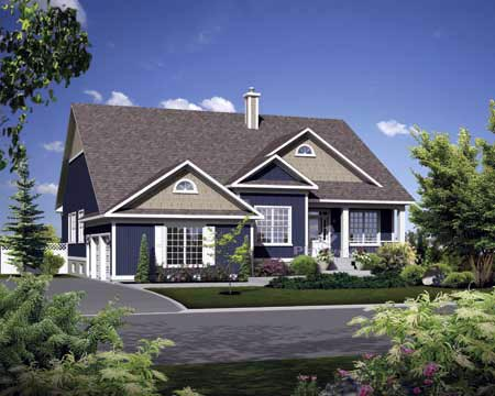 House Plan 52527 with 3 Beds, 3 Baths, 2 Car Garage Elevation