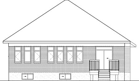 House Plan 52528 Rear Elevation