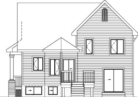 House Plan 52531 Rear Elevation