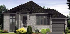 House Plan 52532 with 2 Beds, 1 Baths, 1 Car Garage Elevation