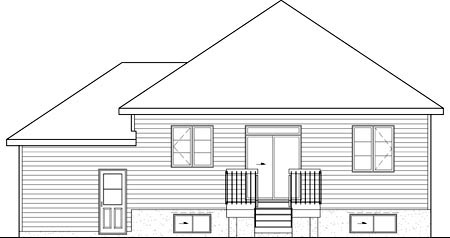 House Plan 52532 Rear Elevation