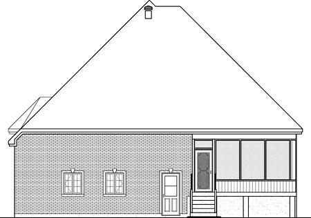 House Plan 52533 Rear Elevation