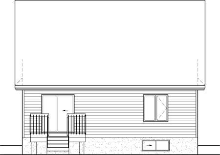 House Plan 52534 Rear Elevation