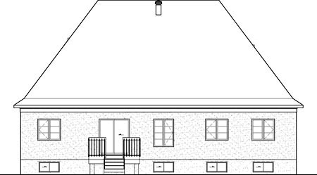 House Plan 52536 Rear Elevation
