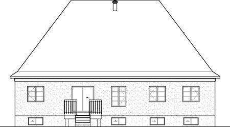 House Plan 52536 Rear Elevation