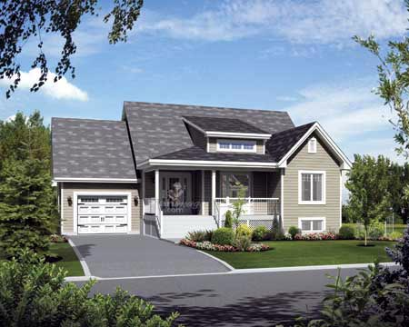House Plan 52537 with 2 Beds, 1 Baths, 1 Car Garage Elevation