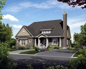 House Plan 52538 with 2 Beds, 3 Baths, 2 Car Garage Elevation