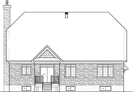 House Plan 52538 Rear Elevation