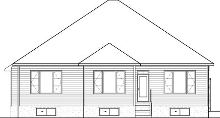 House Plan 52539 Rear Elevation