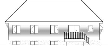 House Plan 52540 Rear Elevation