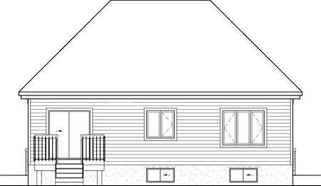 House Plan 52541 Rear Elevation
