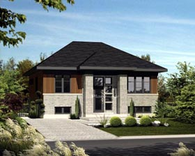 House Plan 52542 Elevation