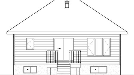 House Plan 52542 Rear Elevation