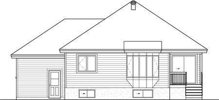 House Plan 52543 Rear Elevation