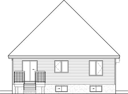House Plan 52545 Rear Elevation