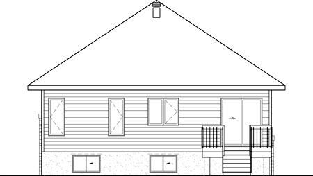 House Plan 52546 Rear Elevation