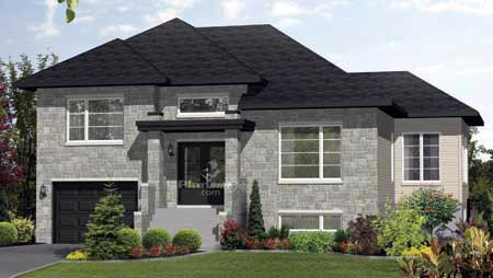 House Plan 52548 with 3 Beds, 2 Baths, 1 Car Garage Elevation