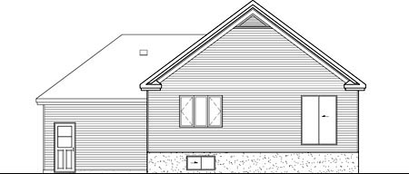 House Plan 52550 Rear Elevation