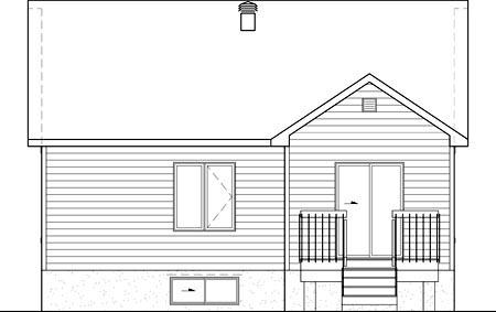 House Plan 52551 Rear Elevation