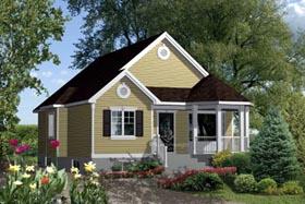 House Plan 52553 Elevation