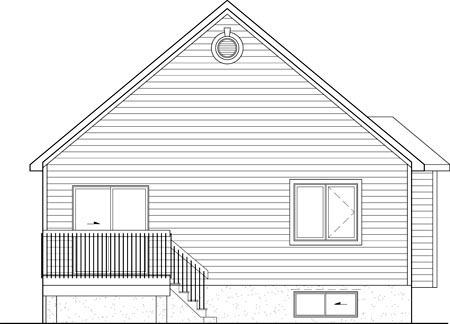 House Plan 52553 Rear Elevation