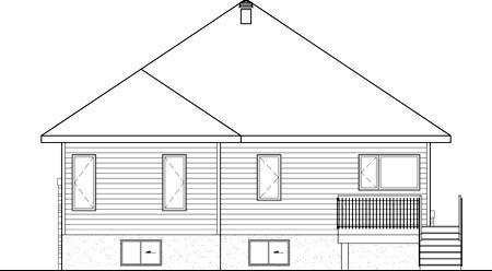 House Plan 52556 Rear Elevation