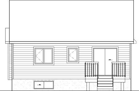House Plan 52558 Rear Elevation