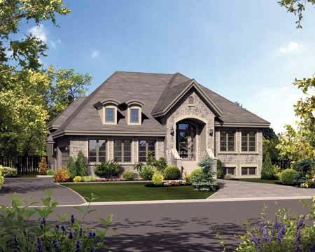 House Plan 52559 with 3 Beds, 1 Baths, 2 Car Garage Elevation