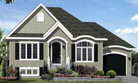 House Plan 52560 | Style Plan with 1251 Sq Ft, 3 Bedrooms, 1 Bathrooms, 1 Car Garage Elevation