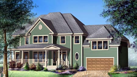 House Plan 52563 Elevation