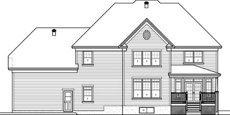 House Plan 52563 Rear Elevation