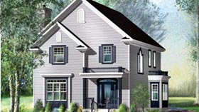 House Plan 52565 | Style Plan with 2422 Sq Ft, 3 Bedrooms, 3 Bathrooms Elevation