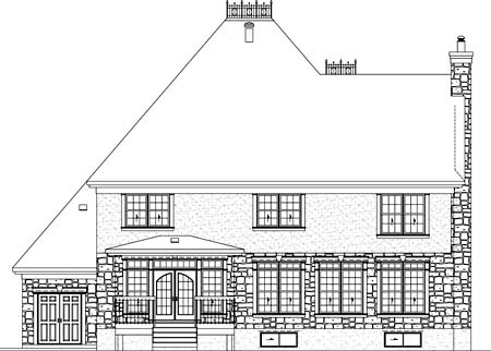 House Plan 52566 Rear Elevation