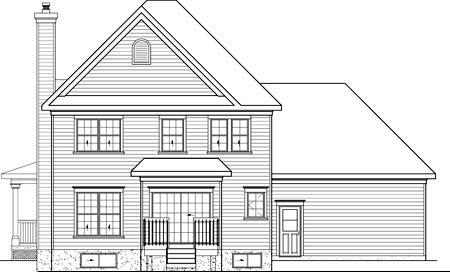 House Plan 52567 Rear Elevation
