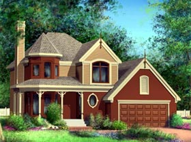 House Plan 52568 with 3 Beds, 2 Baths, 2 Car Garage Elevation