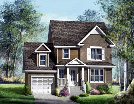 House Plan 52569 | Style Plan with 1394 Sq Ft, 3 Bedrooms, 2 Bathrooms, 1 Car Garage Elevation