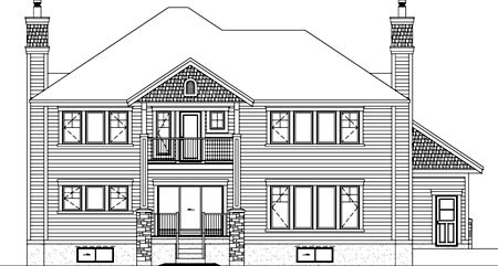 House Plan 52570 Rear Elevation