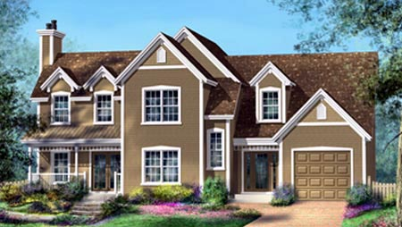 House Plan 52572 Elevation