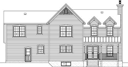 House Plan 52572 Rear Elevation