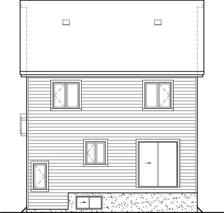 House Plan 52573 Rear Elevation