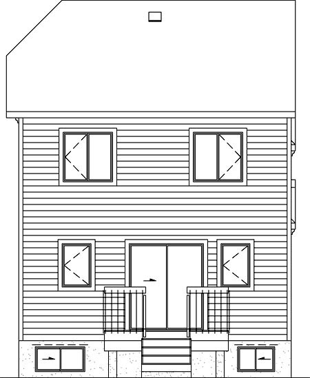 House Plan 52578 Rear Elevation