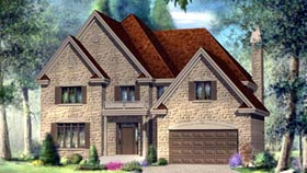 House Plan 52580 Elevation