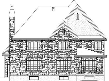 House Plan 52580 Rear Elevation