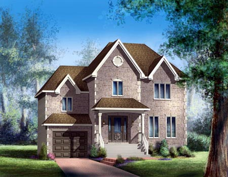 House Plan 52581 with 3 Beds, 2 Baths, 1 Car Garage Elevation