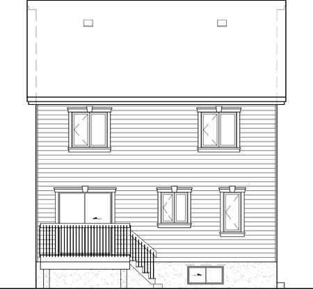 House Plan 52584 Rear Elevation